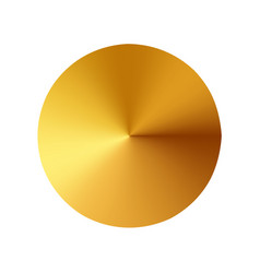 gold button metal circle button vector image vector image