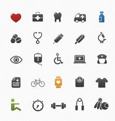 healthy and medical symbol icon set vector image vector image