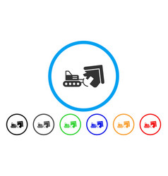 House demolition rounded icon vector