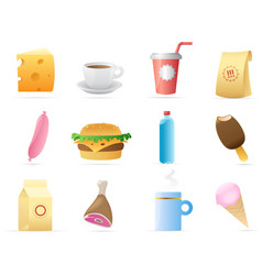 Icons for food vector image