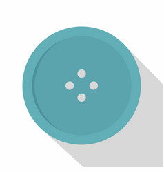 Light blue sewing button icon flat style vector