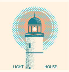 lighthouse symbolretro vector image vector image