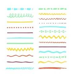 Marker strokes set vector image vector image