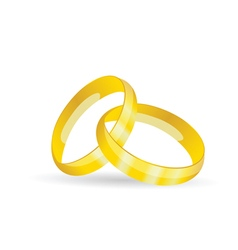rings golden jewel vector image