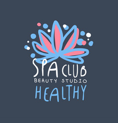 spa club health and beauty studio logo badge for vector image vector image