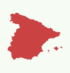 spain map vector image