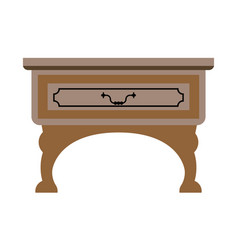 Table with drawer vector