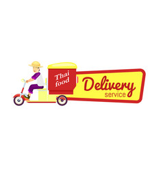 Thai fast food delivery sticker vector
