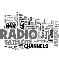 what are the features of satellite radio text vector image