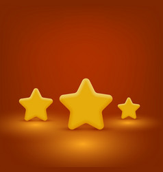 yellow stars set vector image vector image