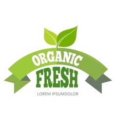 Organic fresh natural eco label vector
