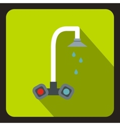 Dripping tap icon flat style vector