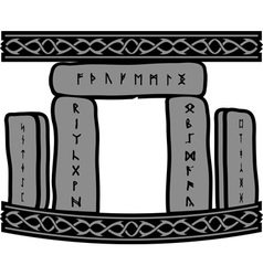 Ancient runic stones vector