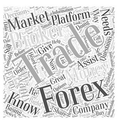 Forex trading broker word cloud concept vector