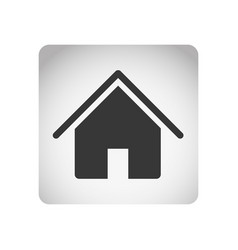 Monochrome square frame with silhouette house icon vector