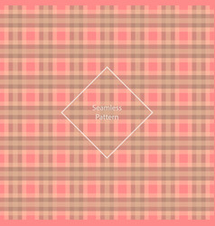 Plaid fabric cage back pattern red and brown vector