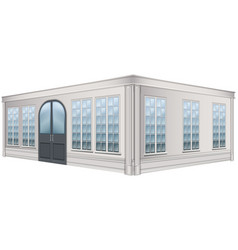 3d design for building with glass windows vector