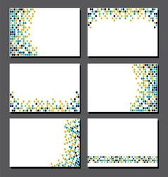 Set of business cards pixel art vector