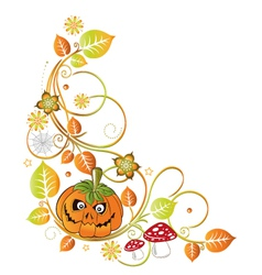 Halloween leaves autumn vector