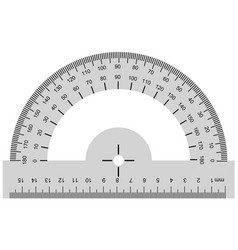 protractor geometrical instrument vector image