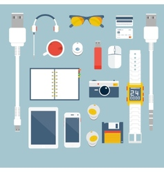 Im fond of gadgets set flat business vector