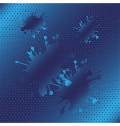 Splash halftone blue background vector