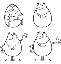 Cartoon egg design vector image