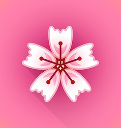 Flat abstract sakura flower icon vector