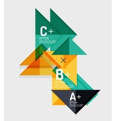 Paper style abstract geometric shapes with vector image