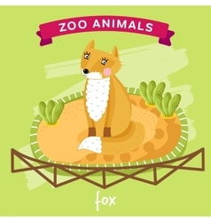 Zoo animal fox vector