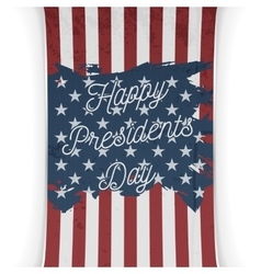Presidents day united states of america flag vector