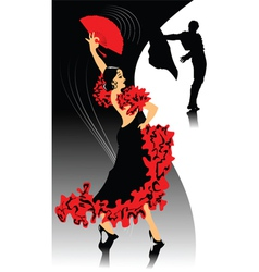 spanish dancing vector image
