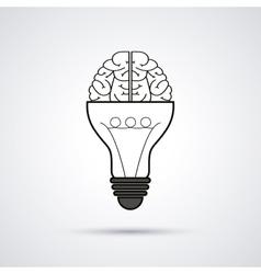 Creative mind and idea icon design vector