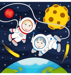 Children in space vector