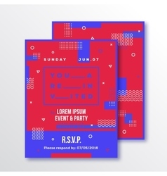 Event party invitation card or poster template vector