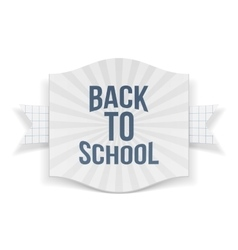 Back to school striped banner vector