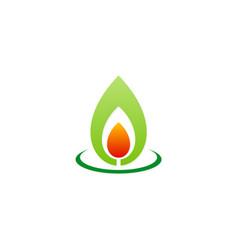 Bio flame energy organic logo vector