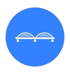 Bridge icon black single building icon from the vector