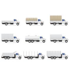 Cargo trucks 05 vector