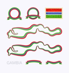 Colors of the Gambia vector image vector image