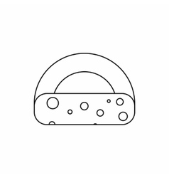 Dutch cheese icon outline style vector