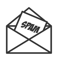 email spam message online isolated vector image