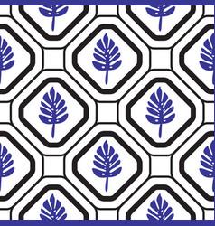 geometric mediterranean rhombus with leaves vector image vector image
