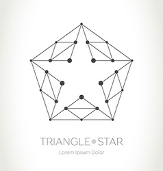 Geometric Star logo Modern stylish design element vector image vector image