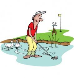 goofy golfer vector image vector image