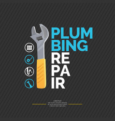 house and plumbing repair vector image