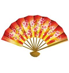 Japanese fan over white vector image