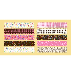 masking tape donut set vector image