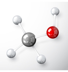 Molecule model concept vector
