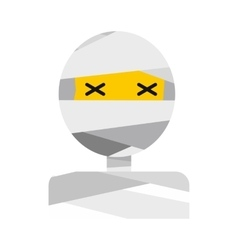 Mummy icon flat vector
